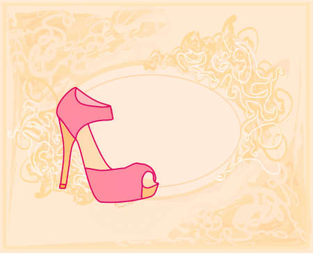 shoes vintage poster  Stock Vector - 12498190