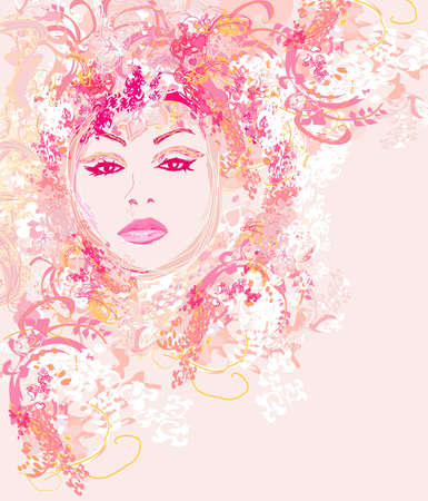 Abstract Beautiful Woman poster        Vector