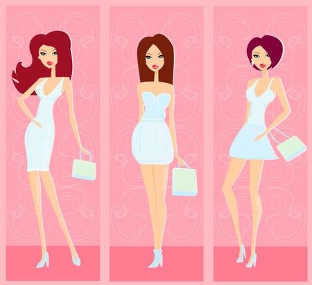 lovely: fashion shopping girls