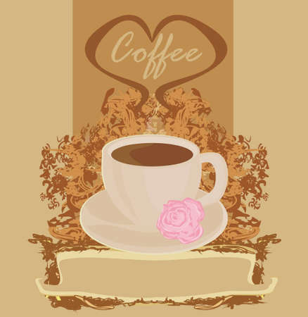 Cup of coffee with abstract design elements  Vector