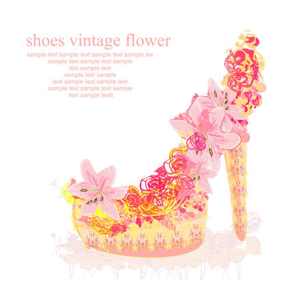 shoes vintage poster  Stock Vector - 12743896