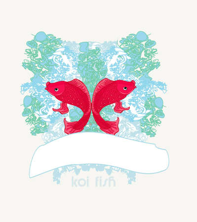 japanese koi vector background  Vector