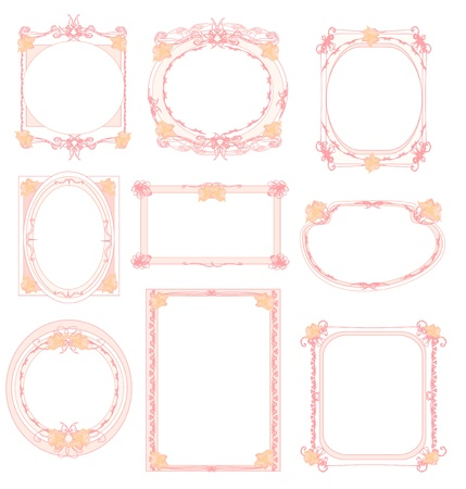 set of floral elements and frames  Stock Vector - 12743968