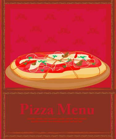 Pizza Menu Template    Stock Vector - 12743964