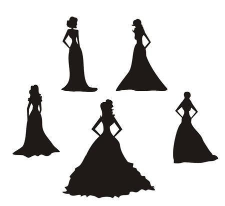 abito elegante: Sagome da sposa impostato