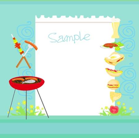 barbecue: Invitation Barbecue Illustration