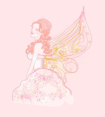 beautiful fairy vector graphic doodle  Vector