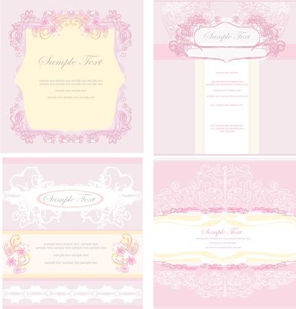 Recepción de la boda tarjeta de juego Foto de archivo - 12744385