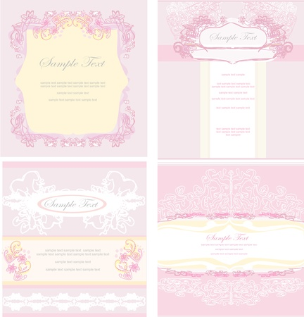 wedding card design: wedding reception card set