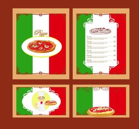 Pizza Menu Template set
