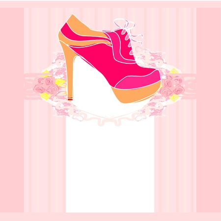 shoes vintage poster Stock Vector - 12744507