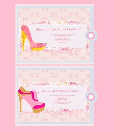 Price Tags With shoes vintage set Stock Vector - 12744532