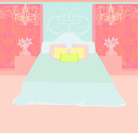 Bedroom interior vector  Stock Vector - 12744499