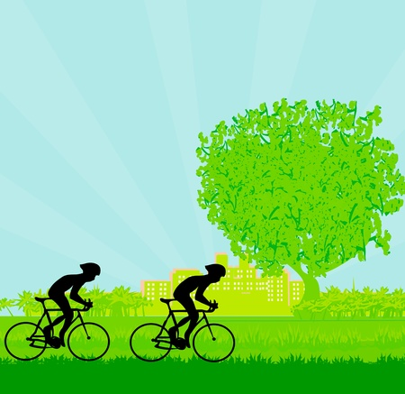 Cycling Poster Stock Vector - 12744506