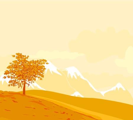 Beautiful vector autumn landscape Stock Vector - 12744497
