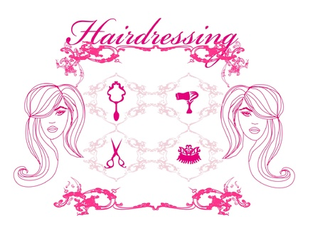 hairdresser salon set Vector