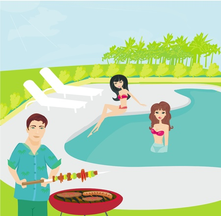 pool party: Barbecue Party