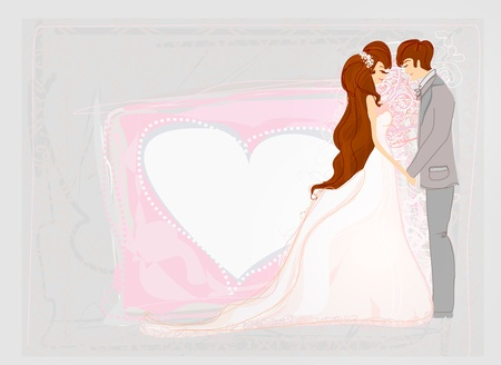 retro styled: wedding dancers - invitation