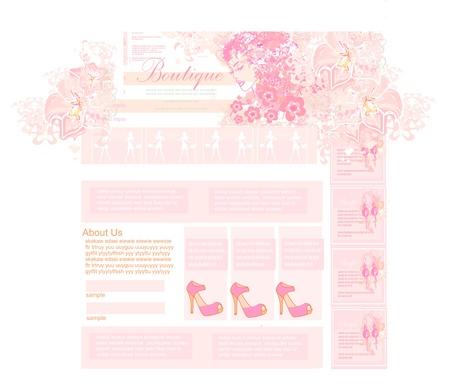 Fashion shopping Website template  Vector