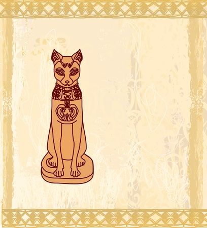 양식에 일치시키는 이집트 고양이 일러스트