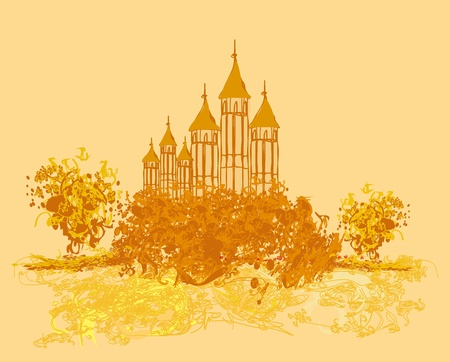 Illustration of the castle in retro style  Stock Vector - 12885831
