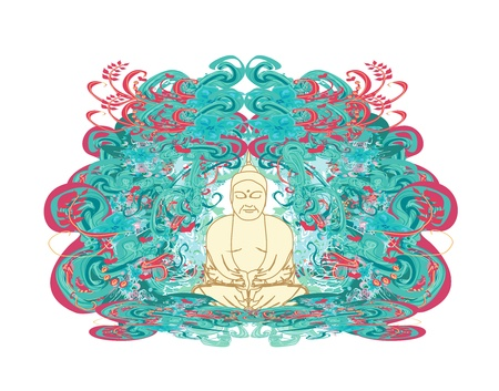 Chinese Traditional Artistic Buddhism Pattern Stock Vector - 12885838