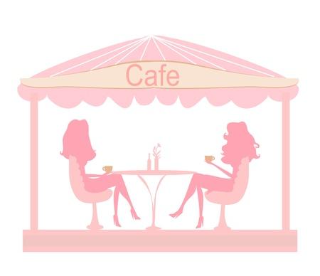 cute pretty girl in coffee break