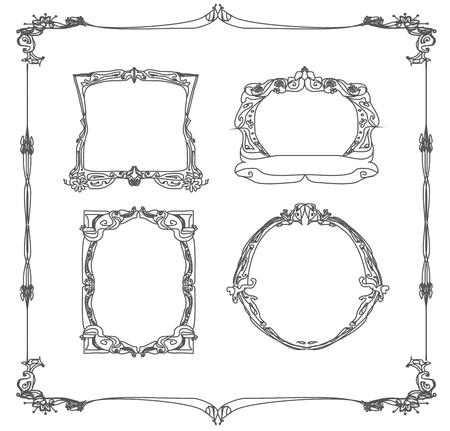 Vintage frames set Stock Vector - 12885678