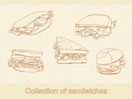 sandwich de pollo: Colecci�n de bocadillos