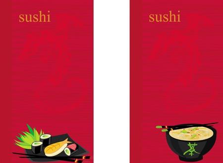 donna giapponese: modello di menu tradizionale cucina giapponese