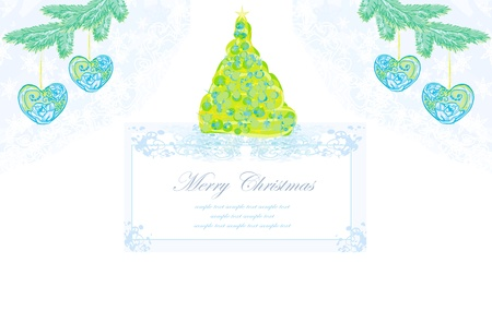 Abstract christmas tree card  Stock Vector - 12885988