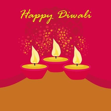 deepawali backdrop: abstract diwali celebration background, vector illustration
