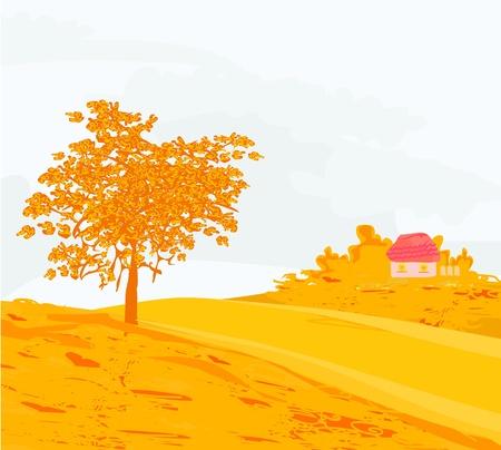 Beautiful vector autumn landscape  Stock Vector - 12954318