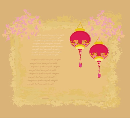 Chinese New Year card, vector  Stock Vector - 12947789