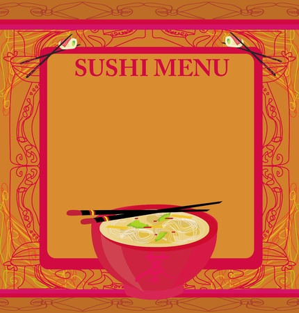 delicacy: template of traditional Japanese food menu