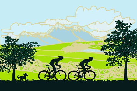 Cycling Poster Stock Vector - 12954404
