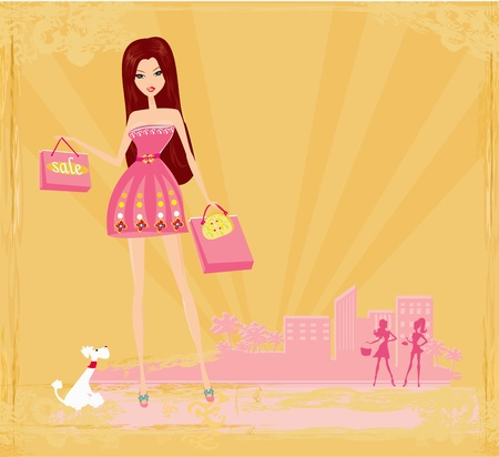 Girl Fashion Shopping