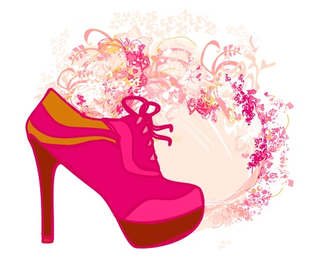 shoes vintage poster Stock Vector - 12954392