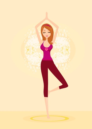 woman in a traditional yoga pose vector illustration  Stock Vector - 13034125