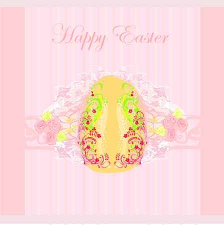 Easter Egg On Grunge Background  Stock Vector - 13034107