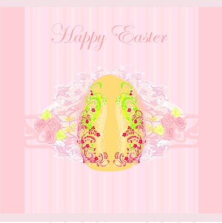 Easter Egg On Grunge Background Stock Vector - 13034107