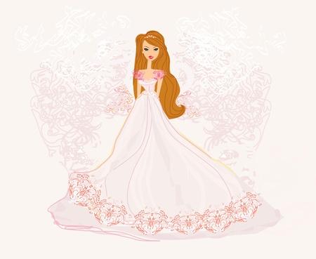 bridesmaid: Beautiful bride card  Illustration