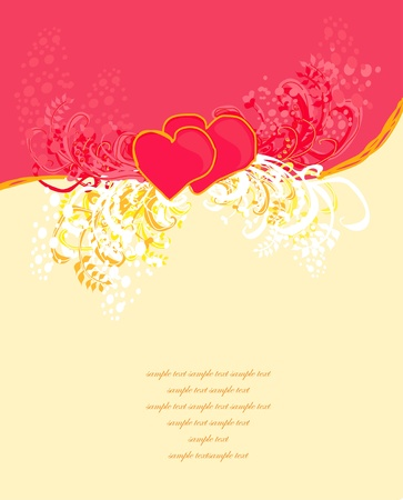 Valentines Day Greeting card  Stock Vector - 13034072