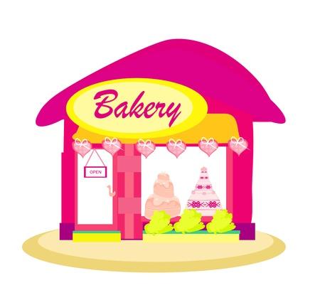 illustration of  bakery shop Stock Vector - 13050307