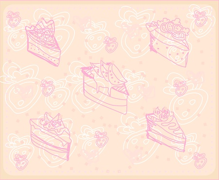 sweet dessert background  Stock Vector - 13121630