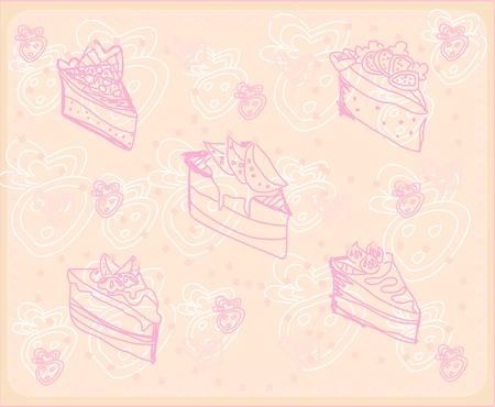 sweet dessert background Stock Vector - 13121630