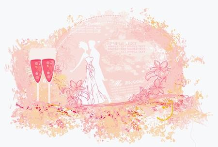Ballroom dancers - invitation Stock Vector - 13121690