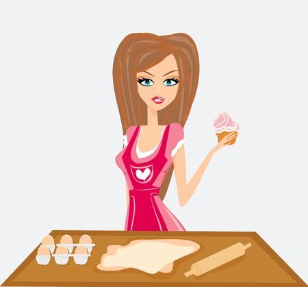 Ama de casa hermosa cocina