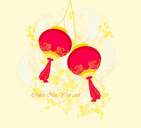 Chinese New Year card, vector