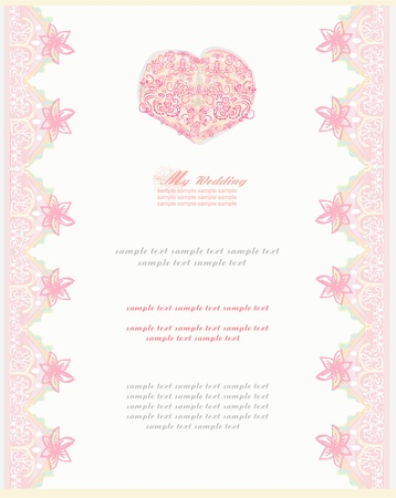 romantic vintage invitation  Vector
